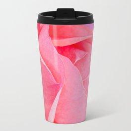 Macro pink rose flower Travel Mug