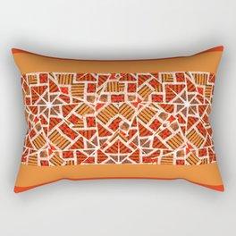 Brown Mosaic Rectangular Pillow