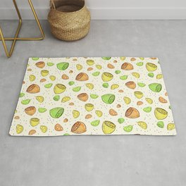 Colorful Lemons Pattern Rug