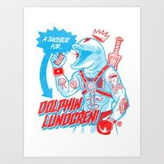 A Juicebox for Dolphin Lundgren Art Print