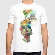 Dream Theory SMALL White Mens Fitted Tee