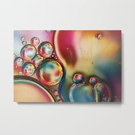 Bubblicious Rainbow Abstract Metal Print
