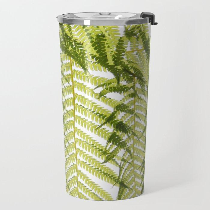 House Plant Fern Leaf Silhouette Sunlight Zen Photo Travel Mug