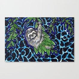 Sloth Climb Canvas Print