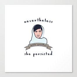 Nevertheless, Malala Yousafzai Persisted Canvas Print