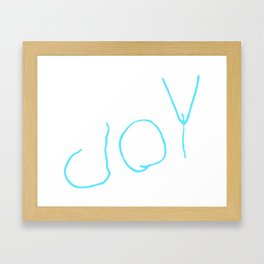 joY Framed Art Print