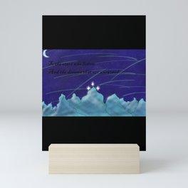 To the Stars who listen Mini Art Print