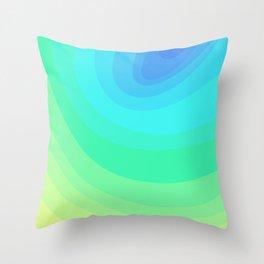 Blue, Green, & Turquoise Gradient Ellipses Throw Pillow