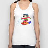 snowboarding Tank Tops featuring Winter Sports: Snowboarding by Alapapaju