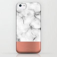 Marble & copper iPhone 5c Slim Case
