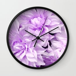 Lucious Lilac Flowers Close-Up Art Photo Wall Clock