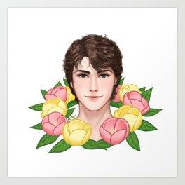 Flower Boy Mercutio Art Print