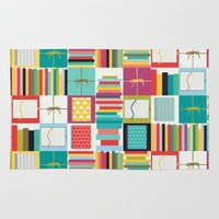 notebook Area & Throw Rugs featuring book joy by Sharon Turner
