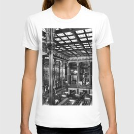 A Book Lover's Dream - Cast-iron Book Alcoves of Old Cincinnati Public Library No. 4 photograph T-shirt
