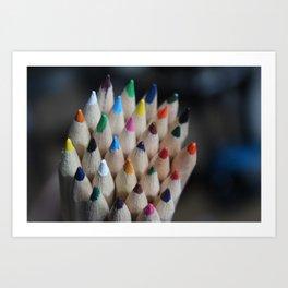 Pencil Crayon Tips Art Print