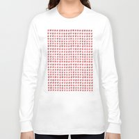 flower pattern Long Sleeve T-shirts featuring Flower Pattern by theDiligentPress