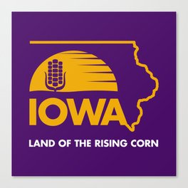 Iowa: Land of the Rising Corn - Purple and Gold Edition Canvas Print