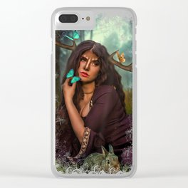 Lady Of The Forest Clear iPhone Case