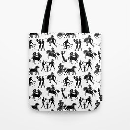 Greek Figures Tote Bag