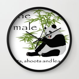 The Male Eats, Shoots and Leaves Wall Clock