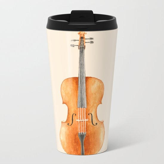 Cello - Watercolors Metal Travel Mug