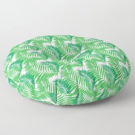 Tropical seamless pattern with exotic palm leaves. Floor Pillow