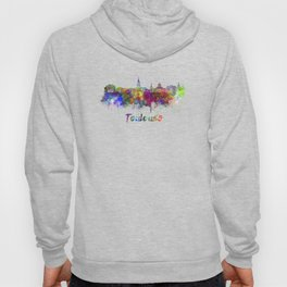 Toulouse skyline in watercolor Hoody