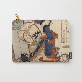 The Strong Oi Pouring Sake by Katsushika Hokusai Carry-All Pouch