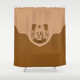 Good Fortune Gal - Peach & Rust Shower Curtain