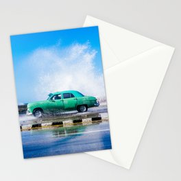 Waves and Classic Cars of the Malecón - 8 Stationery Cards
