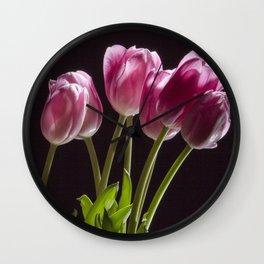 The Perennial Tulip Flowers Wall Clock