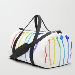 Rainbow blots Duffle Bag