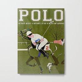 Animals World Fadeaway Girl Polo Metal Print