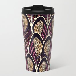 Boho Feathers, Abstract Travel Mug