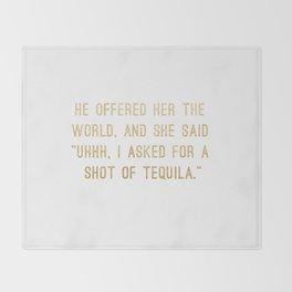 Shot of Tequila Throw Blanket