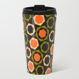 Geometric Pattern #161 (orange hexagons) Travel Mug