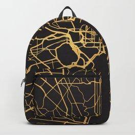 WASHINGTON DC GOLD ON BLACK CITY MAP Backpack