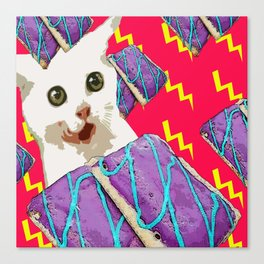 Attack of the breakfast! Canvas Print