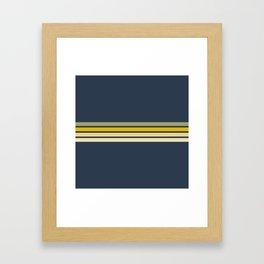 Racing Retro Stripes Framed Art Print