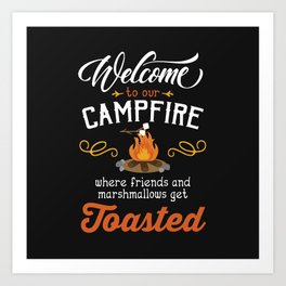 Get Toasted Art Print