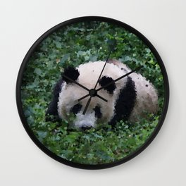 Poly Animals - Panda Wall Clock