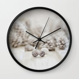 Winter White Wall Clock