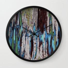 Merging Colors Abstract Wall Clock