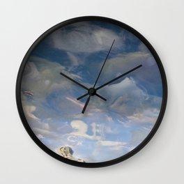 Semiotic Sky  Wall Clock
