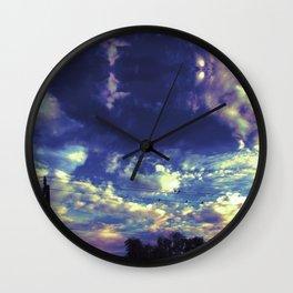 Closed Eye Sheet Music Wall Clock