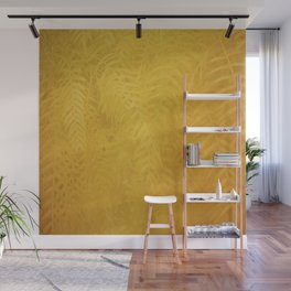 Gold Leaves Wall Mural