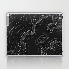 Black & White Topography map Laptop & iPad Skin