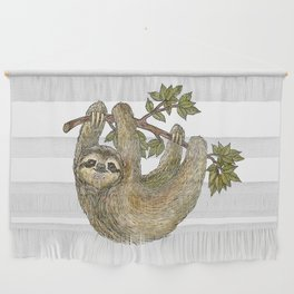 Sloth on a Branch Wall Hanging