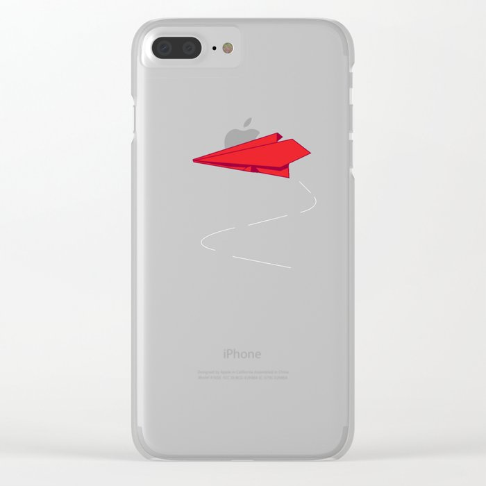 Paper plane Clear iPhone Case