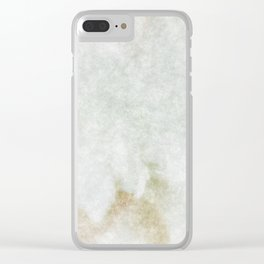 stained fantasy white marble Clear iPhone Case